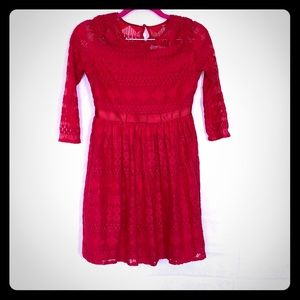 NWT Red 3/4 sleeve dress perfect for the holidays